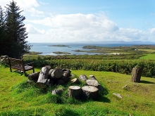 Isle Of Gigha, Viewpoint in Achamore Gardens, Argyllshire © Rose and Trev Clough
